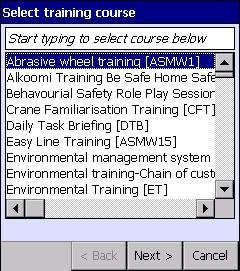 training-course-dialog-box